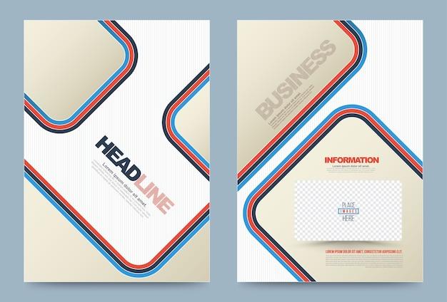 Brochure cover template Premium Vector