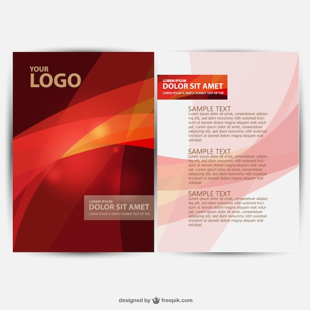 Flyer brochure template design with diagonal illustration free.