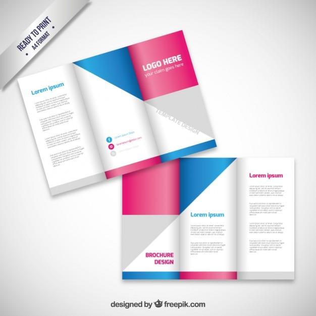 Freepik Brochure Design: Brochure Design With Geometric Shapes Vector