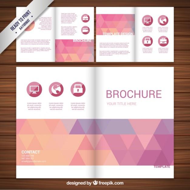 Freepik Brochure Design: Brochure Design With Triangles