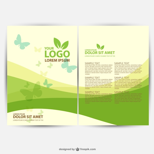 Brochure ecology template vector free download for Free brochure template download