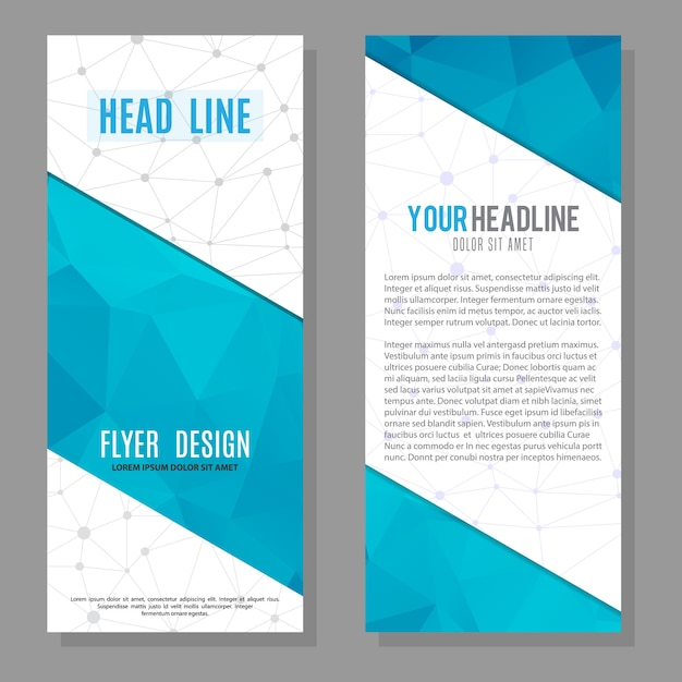 brochure flyer design layout template vector premium download