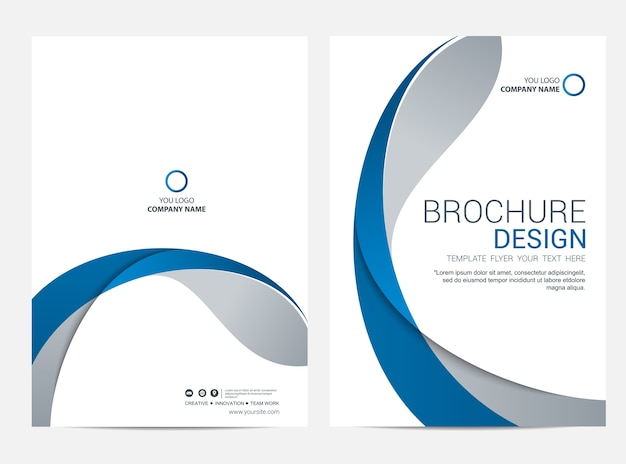 Brochure or flyer design template background Premium Vector