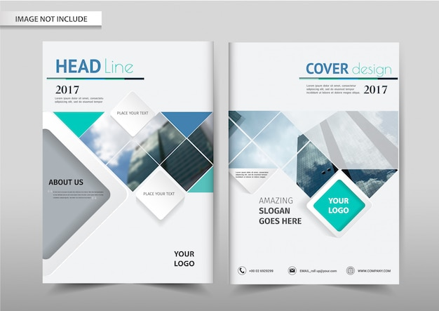 Brochure flyer template Premium Vector