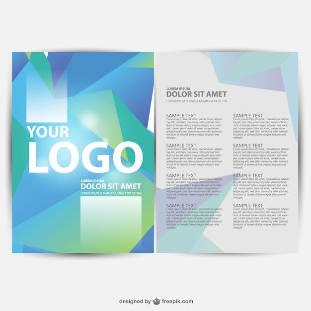 Brochure geometric background Free Vector
