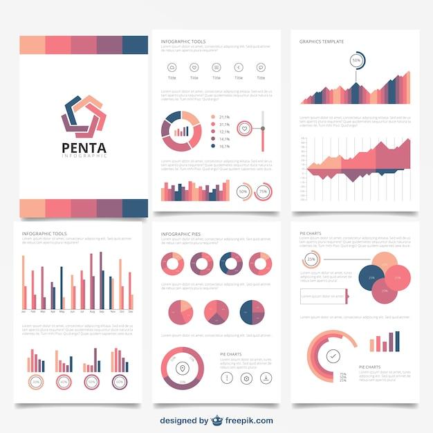 Brochure infographic Free Vector