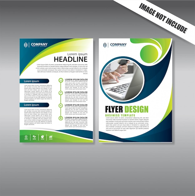 Brochure layout annual report poster flyer with geometric shape Premium Vector