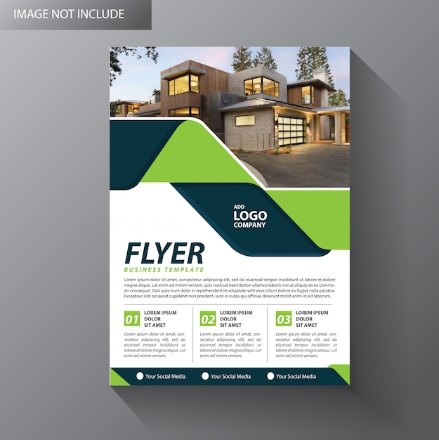 Brochure layout annual report poster flyer Premium Vector