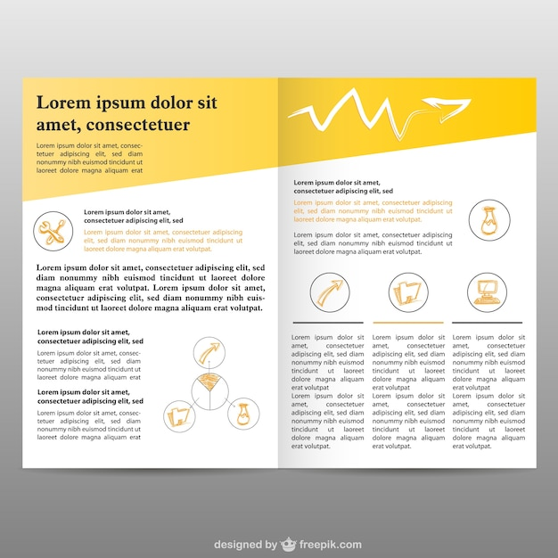 brochure pages background free free vector