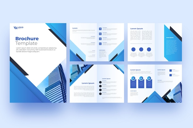 Brochure professional template layout Free Vector