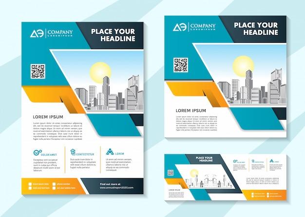 Brochure social media template and banner template Premium Vector