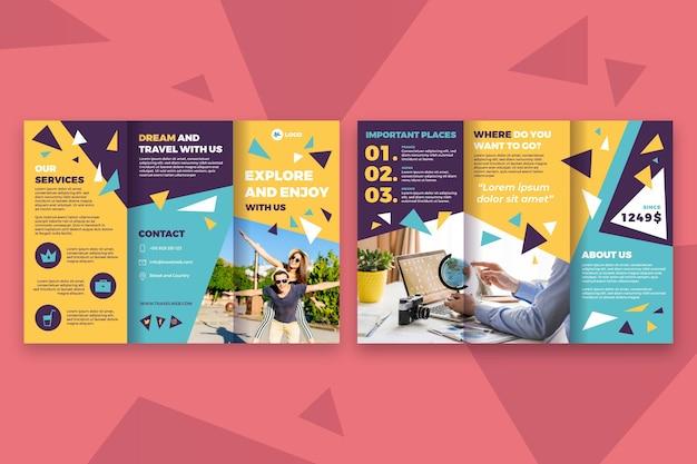 Brochure template concept Premium Vector