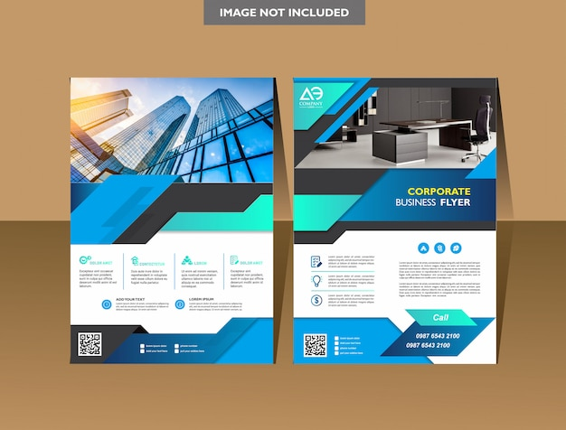 Brochure template cover design annual report magazine flyer or booklet Premium Vector