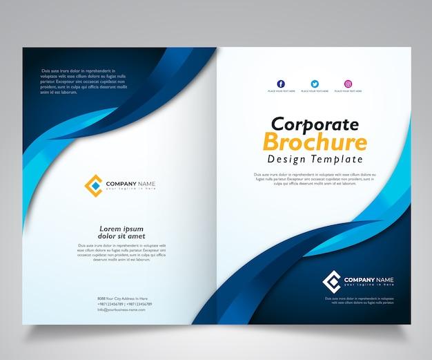 Brochure template design, corporate design template Vector ...