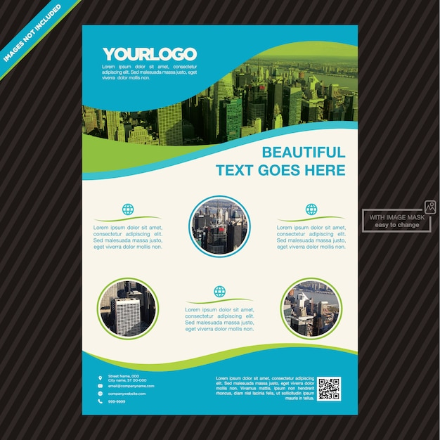 Template For Advertising Flyer  Template