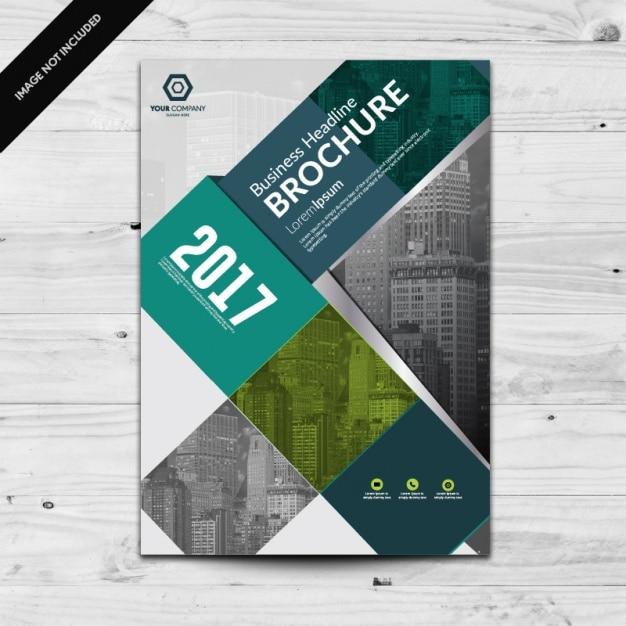 Brochure template design Free Vector