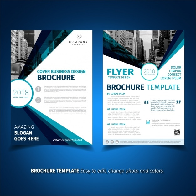 free business brochures templates - brochure template design vector free download