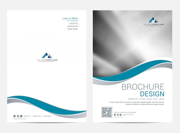 Brochure template flyer design vector background Premium Vector