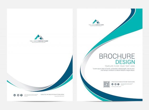 브로슈어 서식 파일 전단지 디자인 벡터 배경 프리미엄 벡터