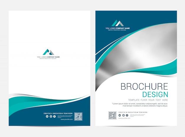 Brochure template flyer design vector background Premium Vector