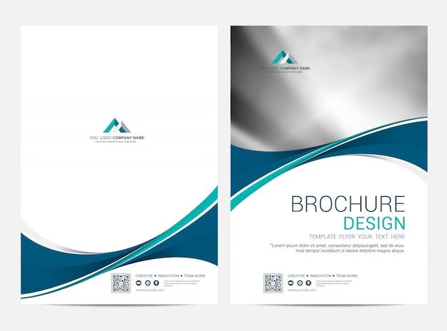 Brochure template flyer design vector background Vector ...
