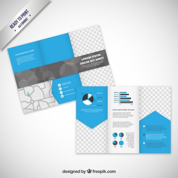 Brochure template in modern style vector free download for Modern brochure design templates