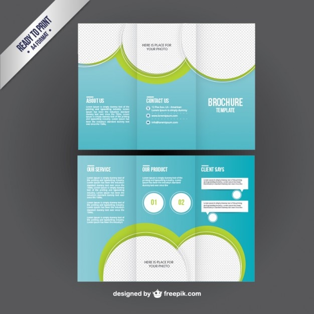 Brochure Template In Trifold Style Vector  Free Download