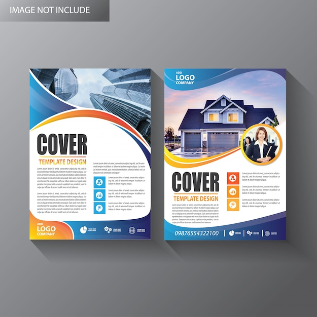 Brochure template layout cover annual report Premium Vector