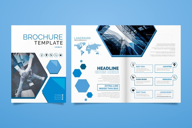 Brochure template layout Free Vector