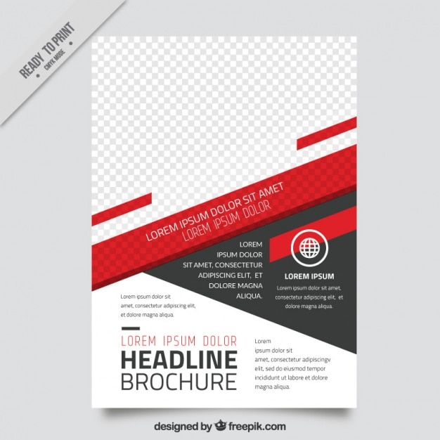 Brochure template of abstract forms Free Vector