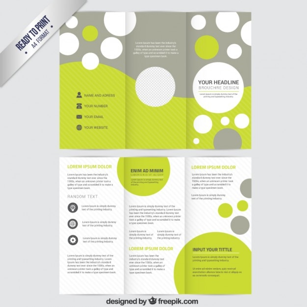 free vector brochure templates - brochure template with circles vector free download