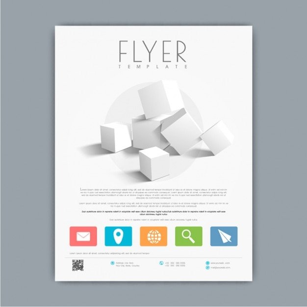 Brochure Template With Decorative D Cubes Vector Premium Download - 3d brochure template
