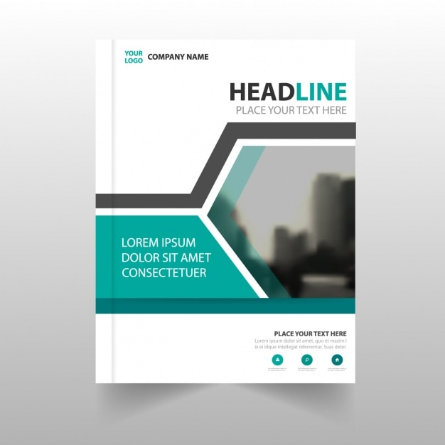 brochure template with geometric shapes vector