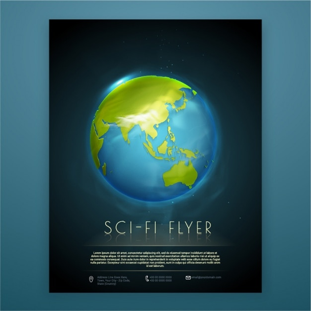 Brochure Template With Planet Earth Vector Premium Download