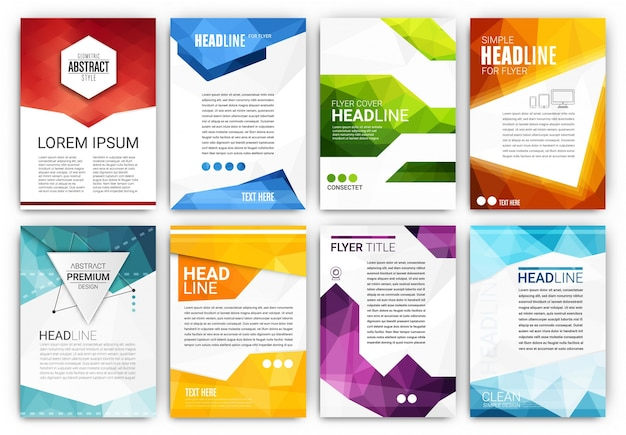 brochure templates collection free vector - Template
