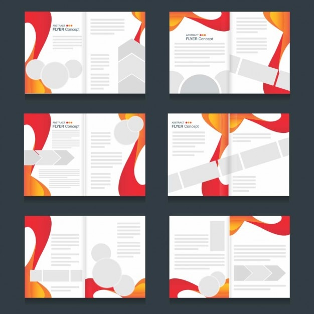 Brochure templates set of abstract forms