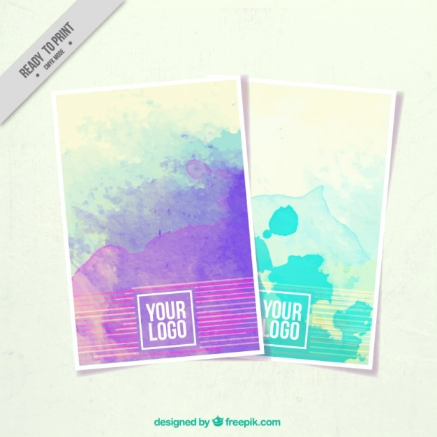Brochure with paint stains for corporate identity