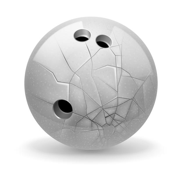 壊れたボールのイラスト Premiumベクター