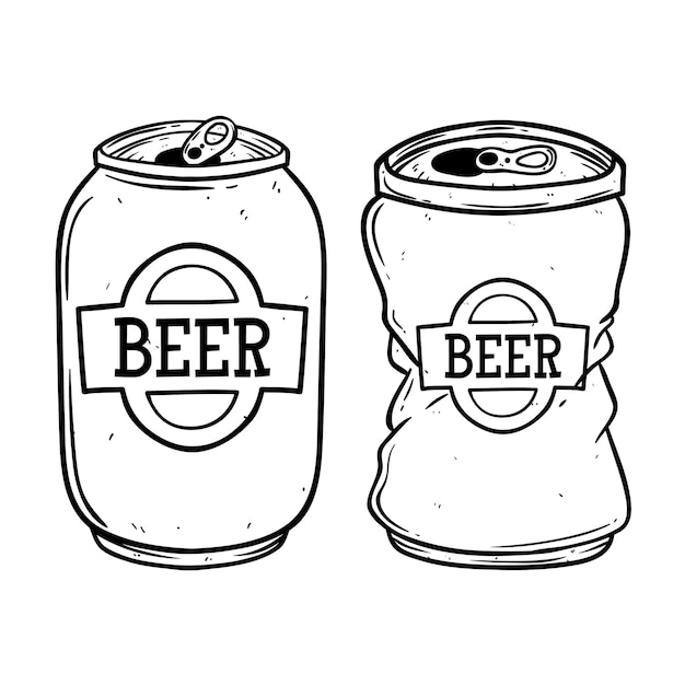 broken beer can vector premium download rh freepik com beer can vector free Beer Can Clip Art