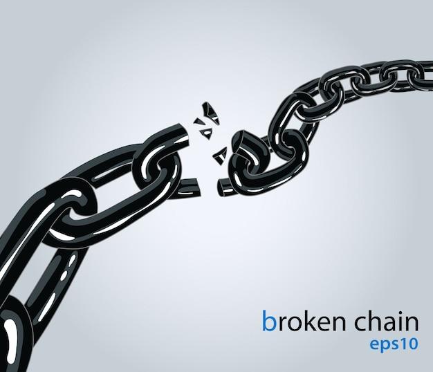 Broken chain Premium Vector
