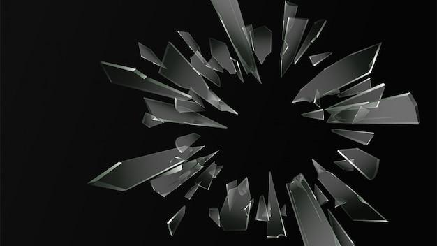 Broken cracked glass  background Premium Vector