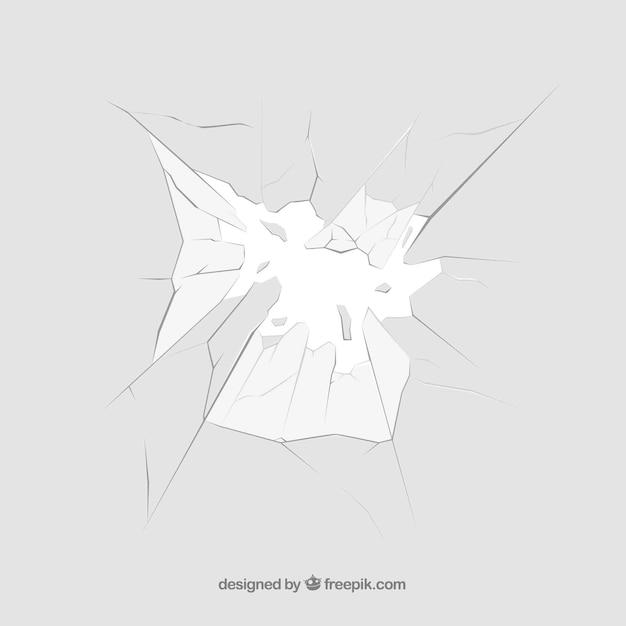 Sfondo di vetro rotto in stile realistico Vettore gratuito