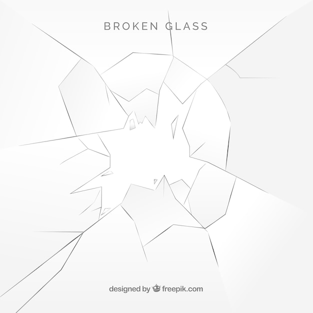 Broken glass background in realistic style Free Vector