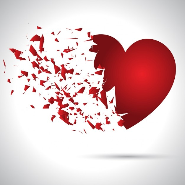 Broken heart, valentine background Vector | Free Download