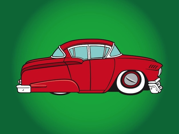 Broken old car cartoon icon