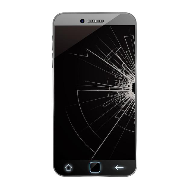Broken phone Premium Vector