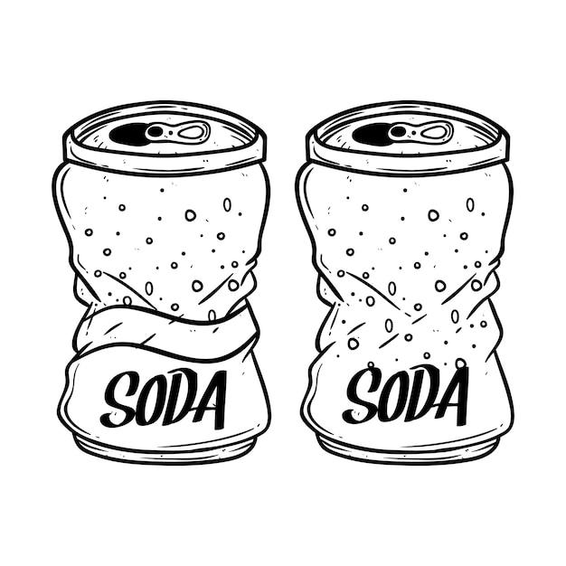Broken soda can Premium Vector