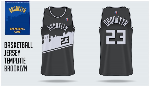 Brooklyn basketball jersey Premium Vector