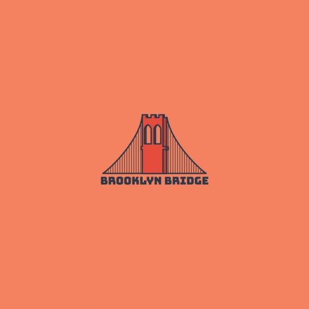 Brooklyn bridge logo Vector | Free Download