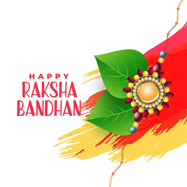 Brother and sister bonding raksha bandhan background Free Vector
